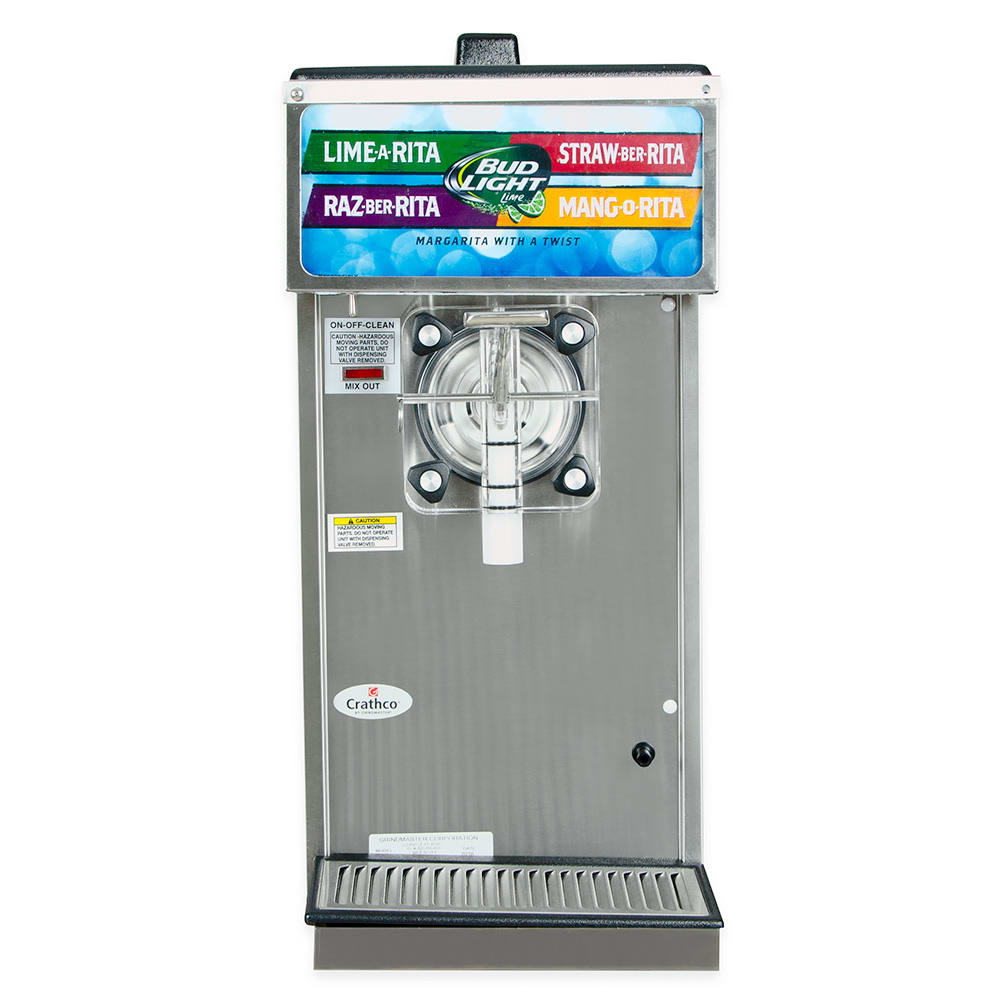 """Crathco 3341 13"""" Frozen Drink Machine w/ (1) 1.5 gal Hopper - Stainless, 120v"""
