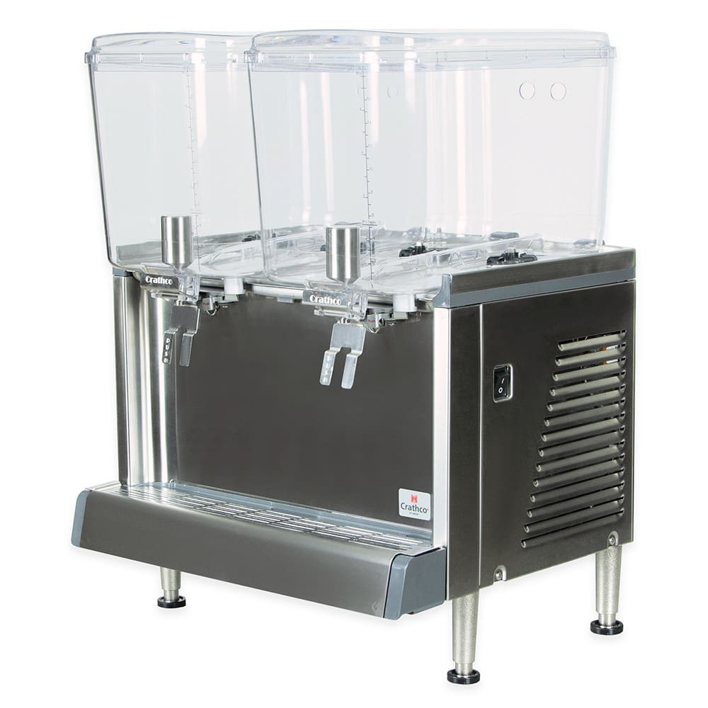 "Crathco CS-2D-16 20.4"" Pre-Mix Cold Beverage Dispenser w/ (2) 4.75 gal Bowls, 120v"