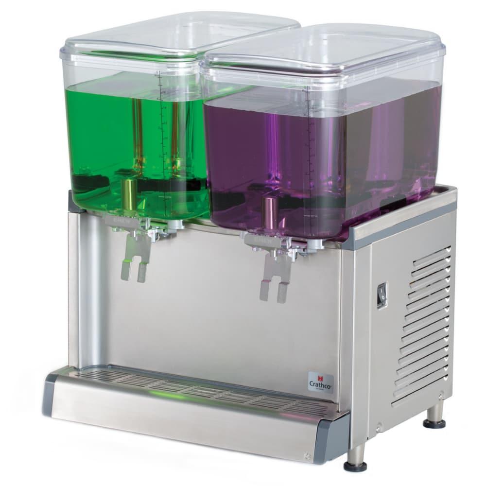 "Crathco CS-2D-16-S 20.4"" Cold Beverage Dispenser w/ (2) 4.75-gal Bowls, 115v"