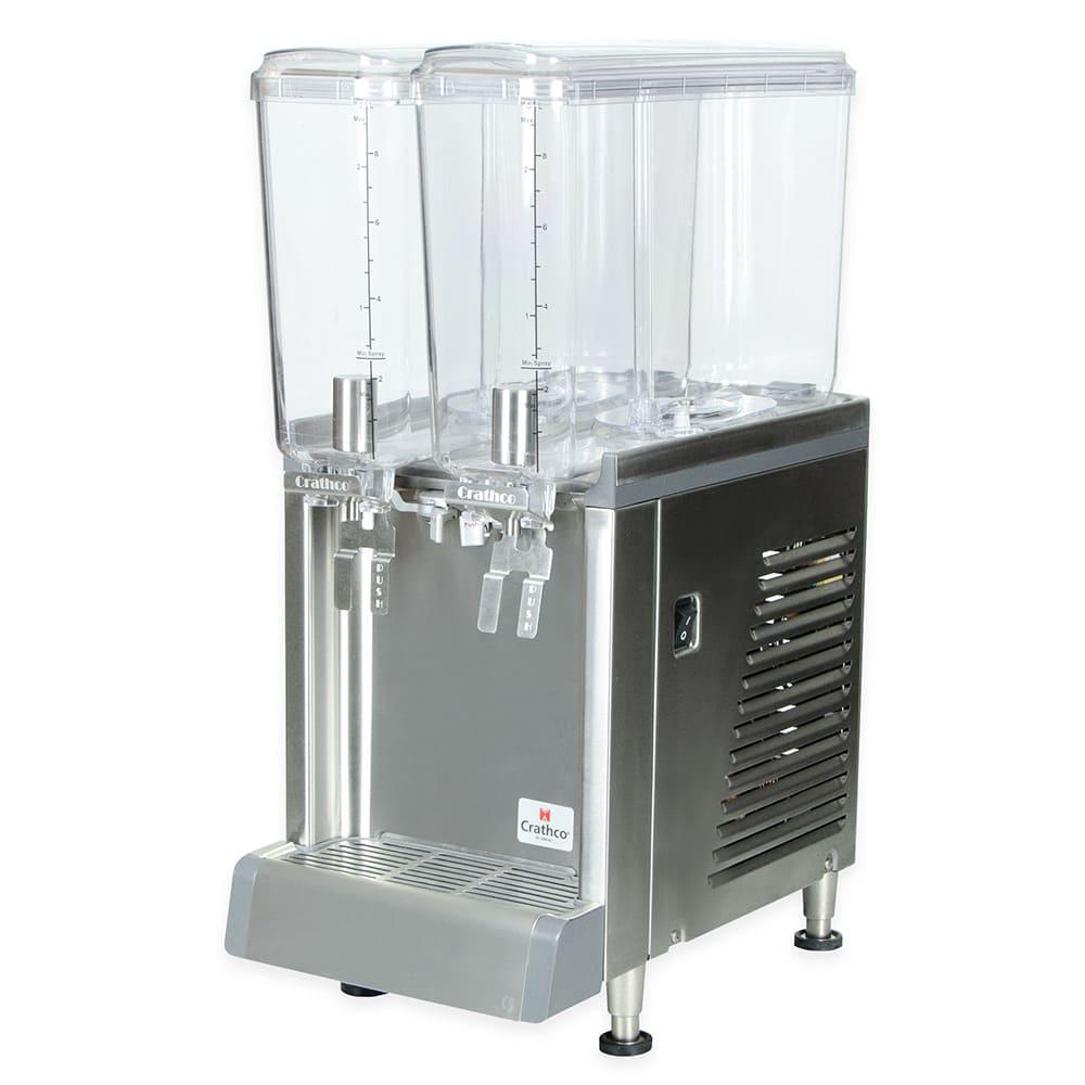 """Crathco CS-2E-16-S 10.5"""" Pre-Mix Cold Beverage Dispenser w/ (2) 2.4 gal Bowls, 120v"""