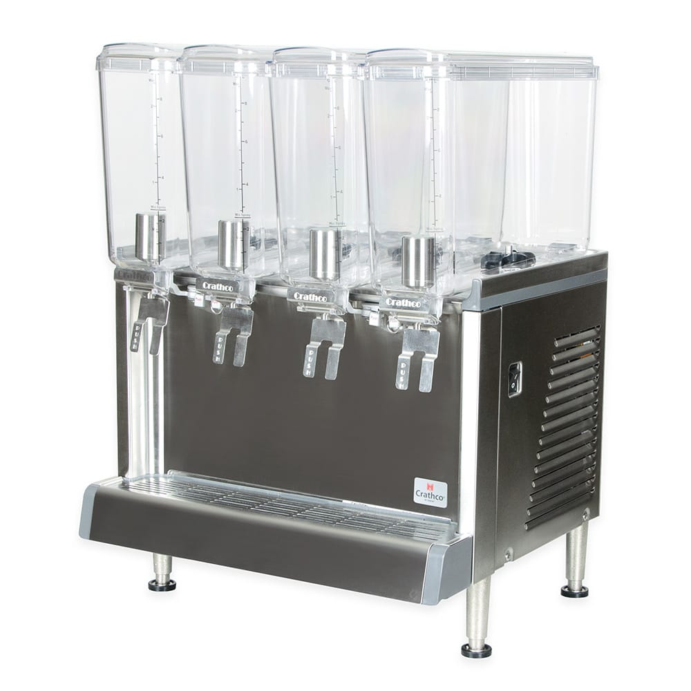 """Crathco CS-4E-16 20.4"""" Pre-Mix Cold Beverage Dispenser w/ (4) 2.4 gal Bowls, 120v"""