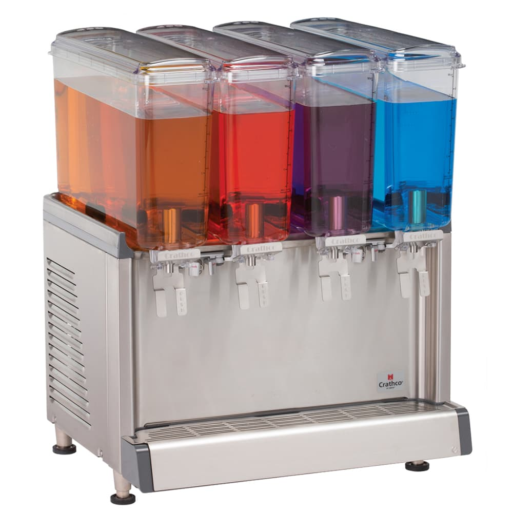 "Crathco CS-4E-16-S 20.4"" Cold Beverage Dispenser w/ (4) 2.4-gal Bowls, 115v"