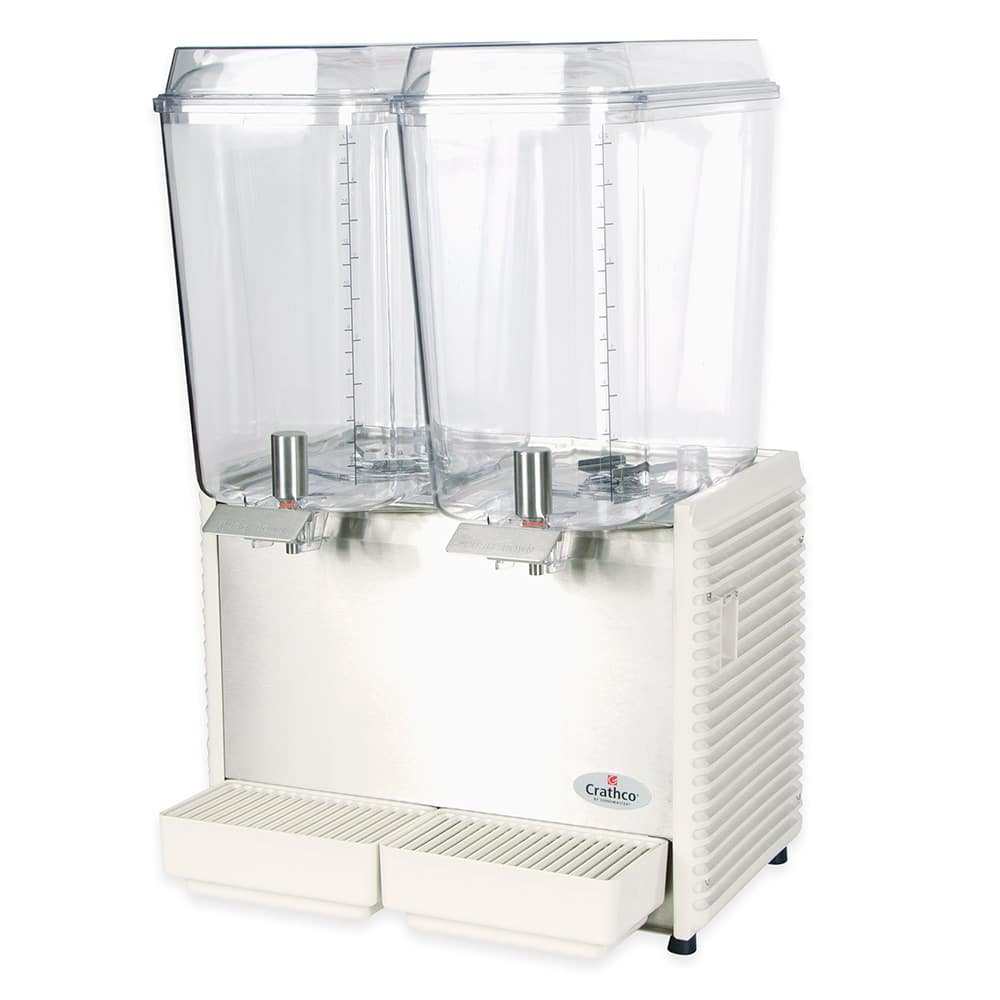 "Crathco D25-4 17.5"" Pre-Mix Cold Beverage Dispenser w/ (2) 5 gal Bowls, 115v"