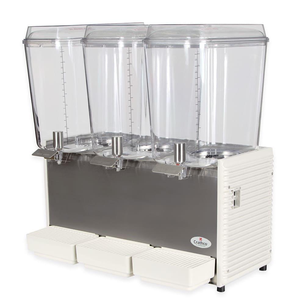 """Crathco D35-4 25.5"""" Premix Cold Beverage Dispenser w/ (3) 5-gal Bowls, 120v"""