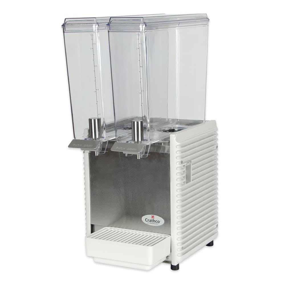 """Crathco E29-4 11.25"""" Mini-Twin Pre-Mix Cold Beverage Dispenser w/ (2) 2.4 gal Bowls, 115v"""