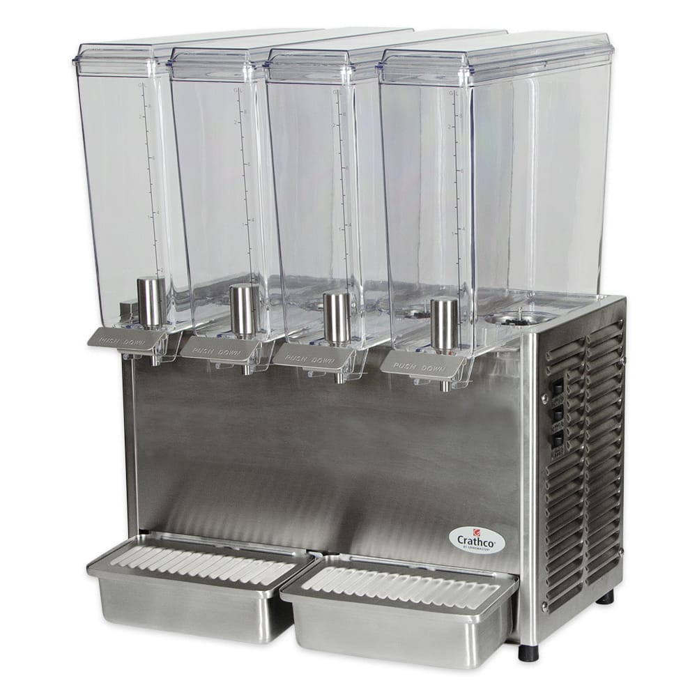 "Crathco E49-3 20.5"" Mini Quad™ Pre-Mix Cold Beverage Dispenser w/ (4) 2.4 gal Bowls, 115v"