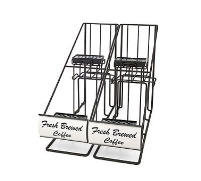 Grindmaster 70655 Airpot Rack, (2) In-Line Style Racks, Holds (4) 2.2 L Airpots, Black