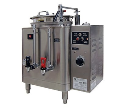 Grindmaster 74110E Single Coffee Urn w/ 10-gal/Liner Capacity, Automatic, Fresh Water Heat Exchange, 120-208v/1ph
