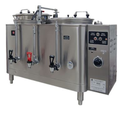 Grindmaster 74410E Twin Coffee Urn w/ 10 gal/Liner Capacity, Automatic, Fresh Water Heat Exchange, 120/208v/1ph