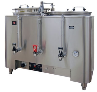 Grindmaster 8103(E) Twin Coffee Urn w/ 3 gal/Liner Capacity, Automatic, Fresh Water Brewing, 120/208v/1ph