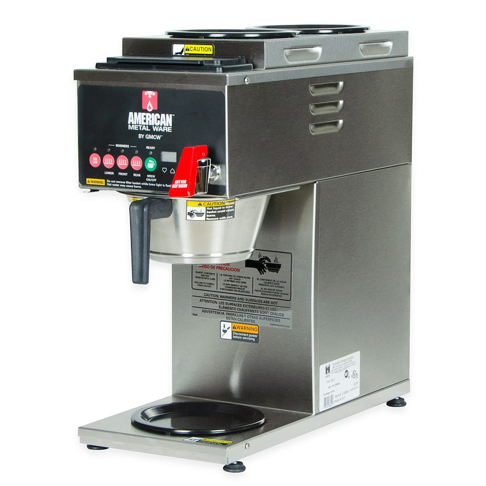Grindmaster B-3 Single Coffee Brewer w/ (1)Lower & (2) Upper Warmers, Pour Over, 120/208v/1ph
