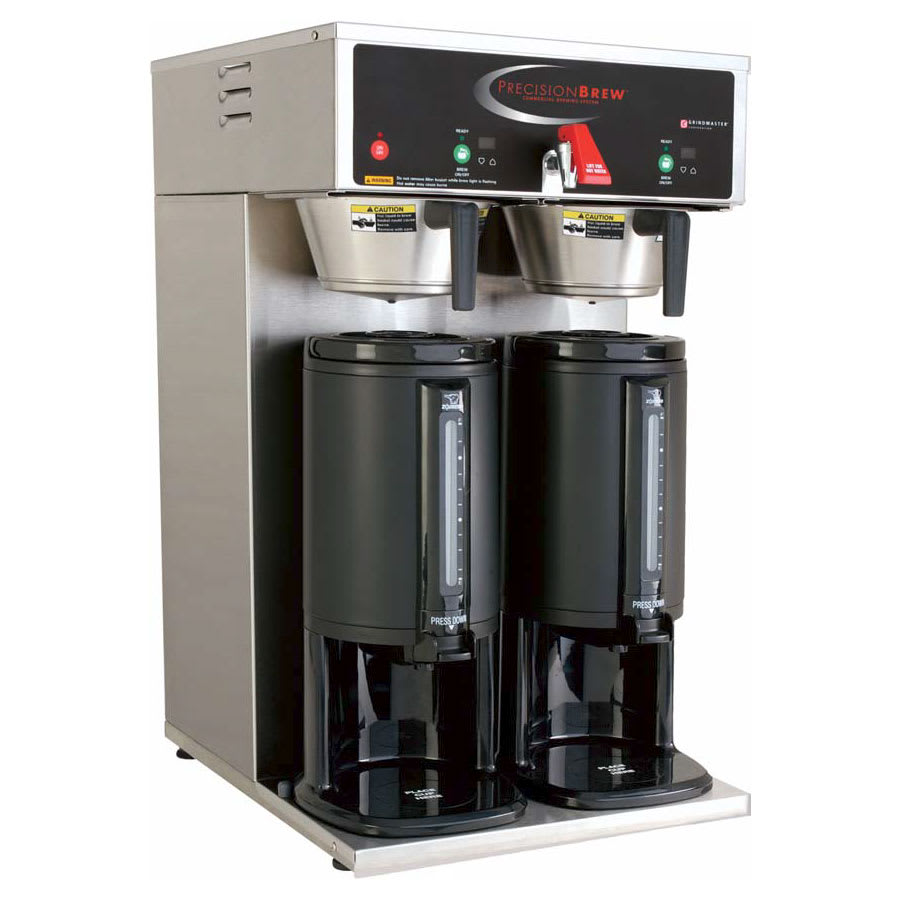 Grindmaster B-DGP Dual Coffee Brewer for Thermal Servers - Automatic, Fresh Brew, 240v/1ph