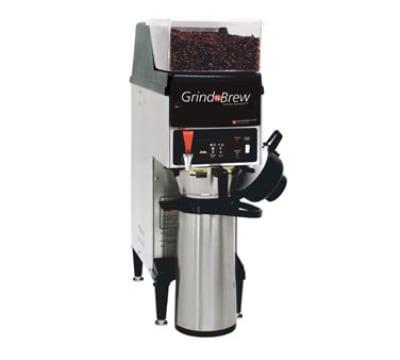 Grindmaster GNB-10H Single Coffee Brewer for Airpot w/ Grinder, 5.5-lb Hopper, Fresh Brew, 120v