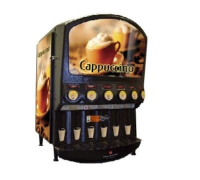 Grindmaster PIC-6-I 6-Flavor Hot Chocolate/Cappuccino Dispenser w/ (6) 5-lb Hoppers, 120v