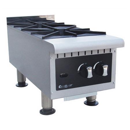 "Centaur ABMHP212 12"" Gas Hotplate w/ (2) Burners & Manual Controls"