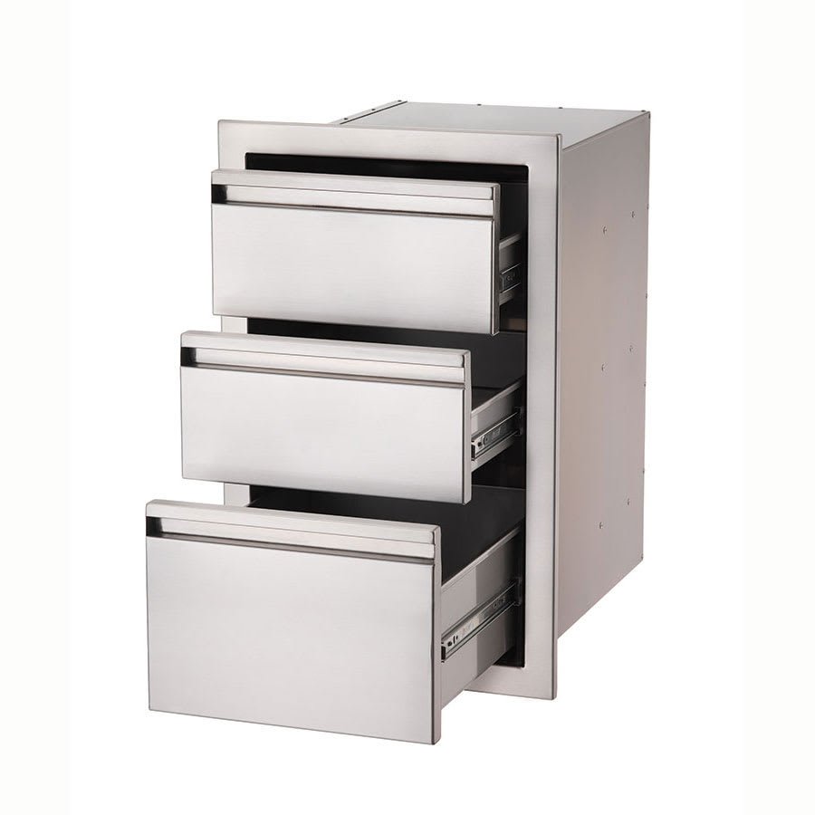 Crown Verity CV-3D1 Stainless Steel Built-In 3-Drawer Compartment