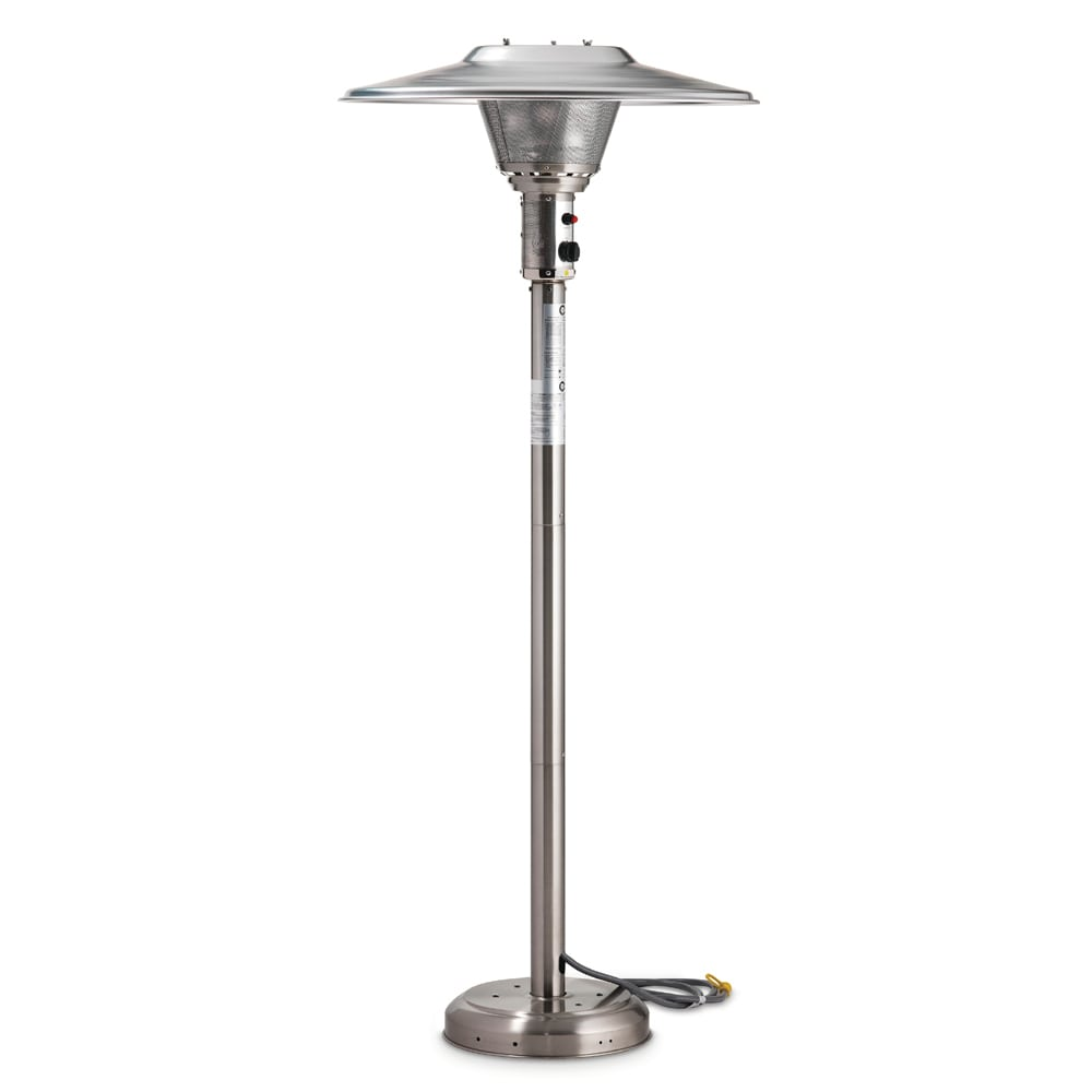 "Crown Verity CV-3050-NG 90"" Portable Patio Heater - 45,000 BTU, Stainless, NG"