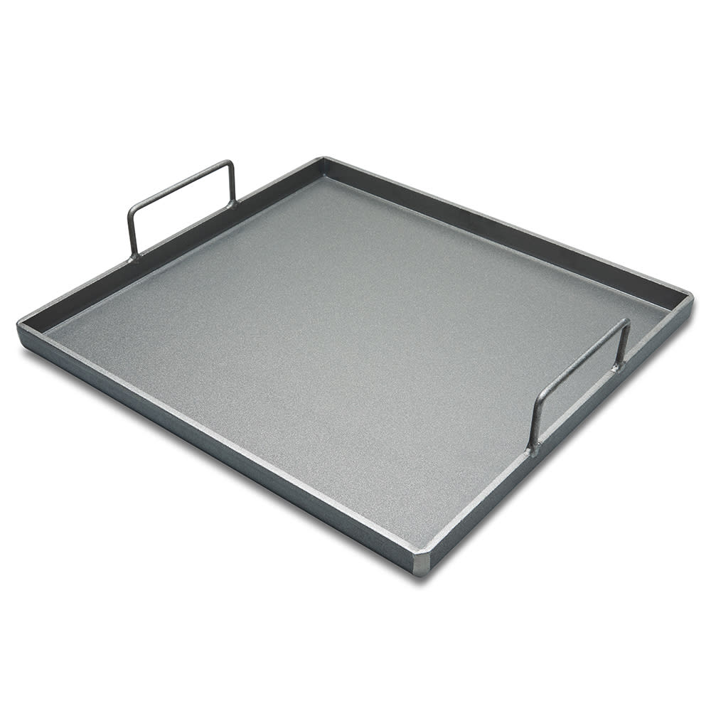 "Crown Verity CV-G2022 Griddle Plate w/ Handles - 21.38"" x 20.5"", Steel"