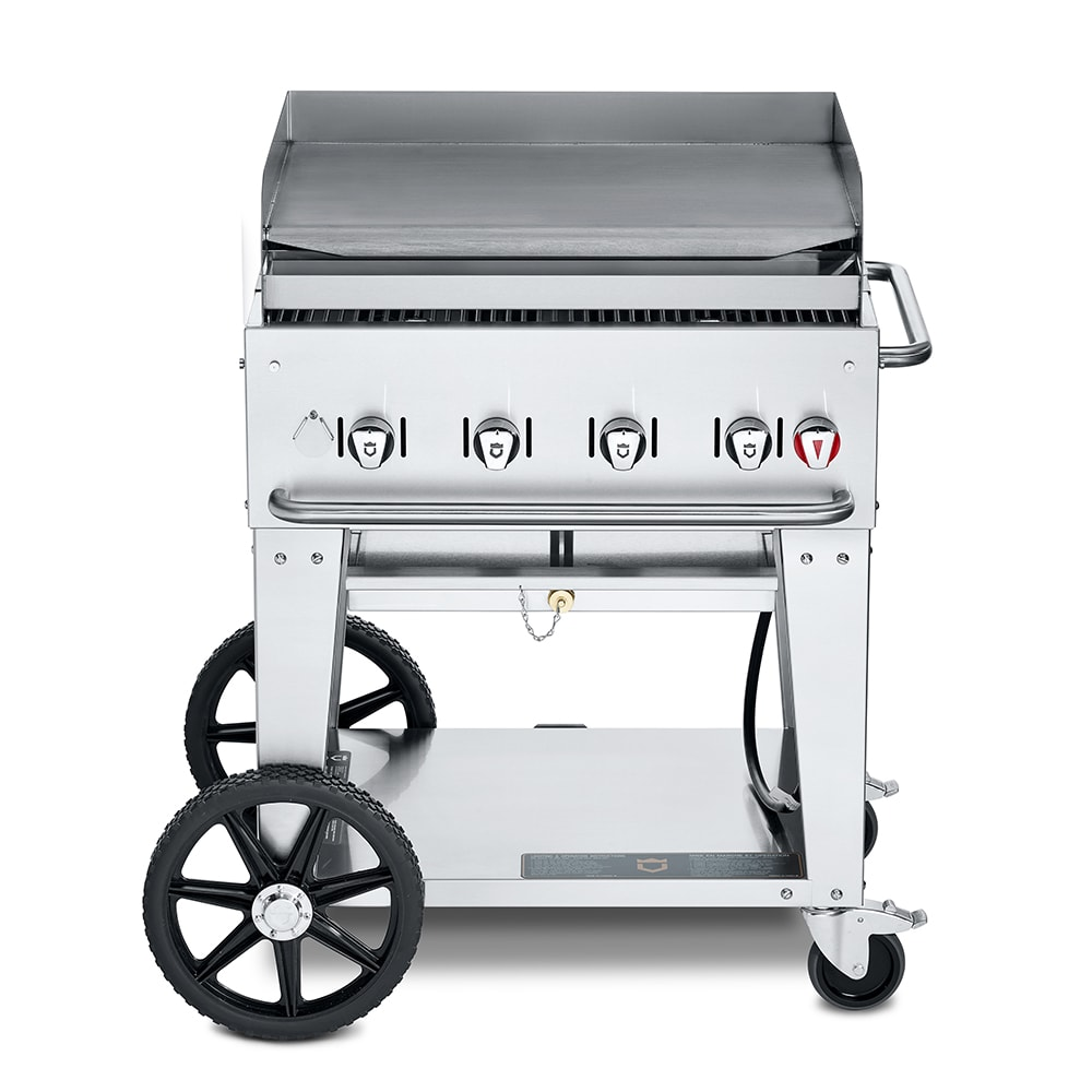 "Crown Verity MG-30LP 30"" Mobile Gas Commercial Outdoor Griddle, LP"