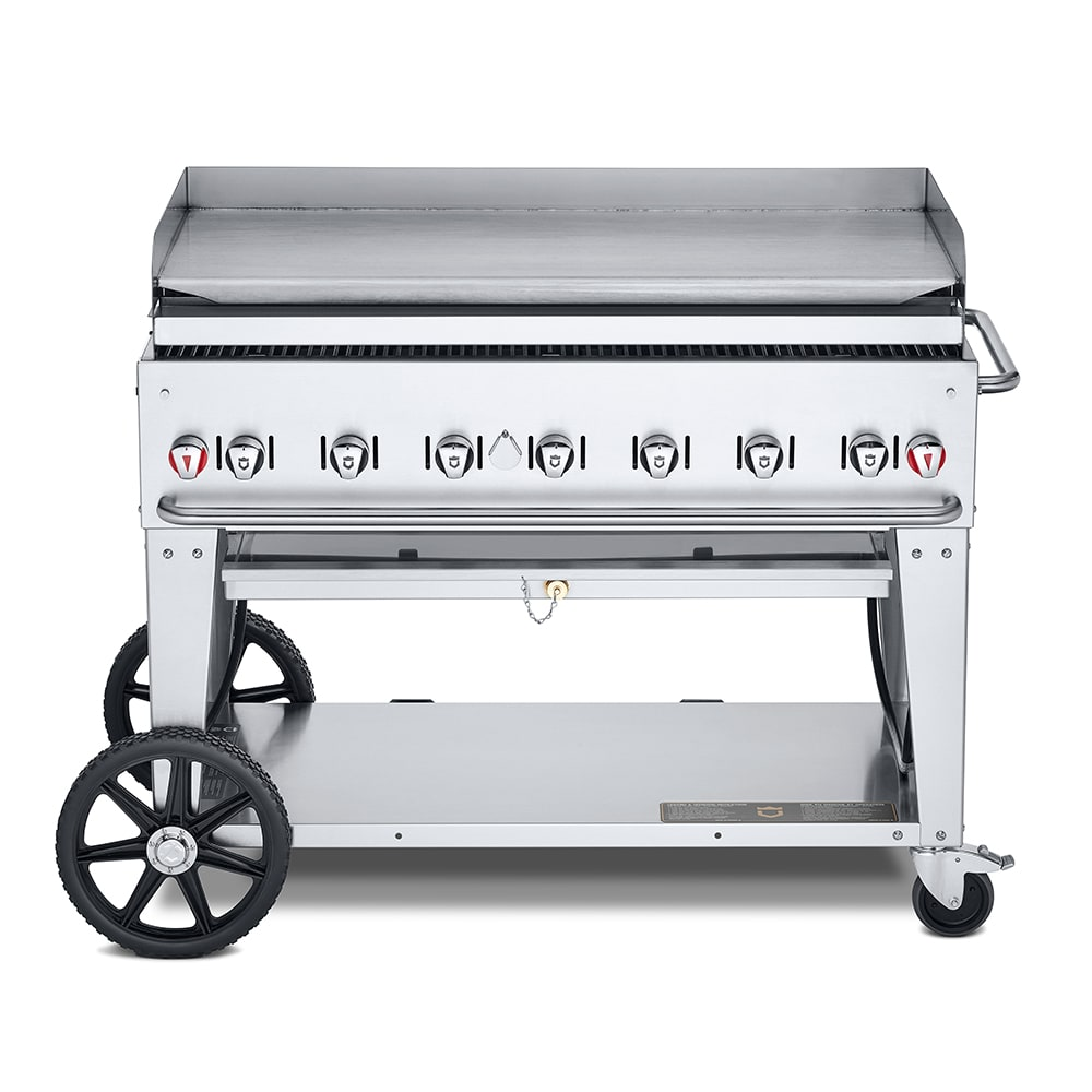 """Crown Verity MG-48NG 48"""" Mobile Gas Commercial Outdoor Griddle, NG"""