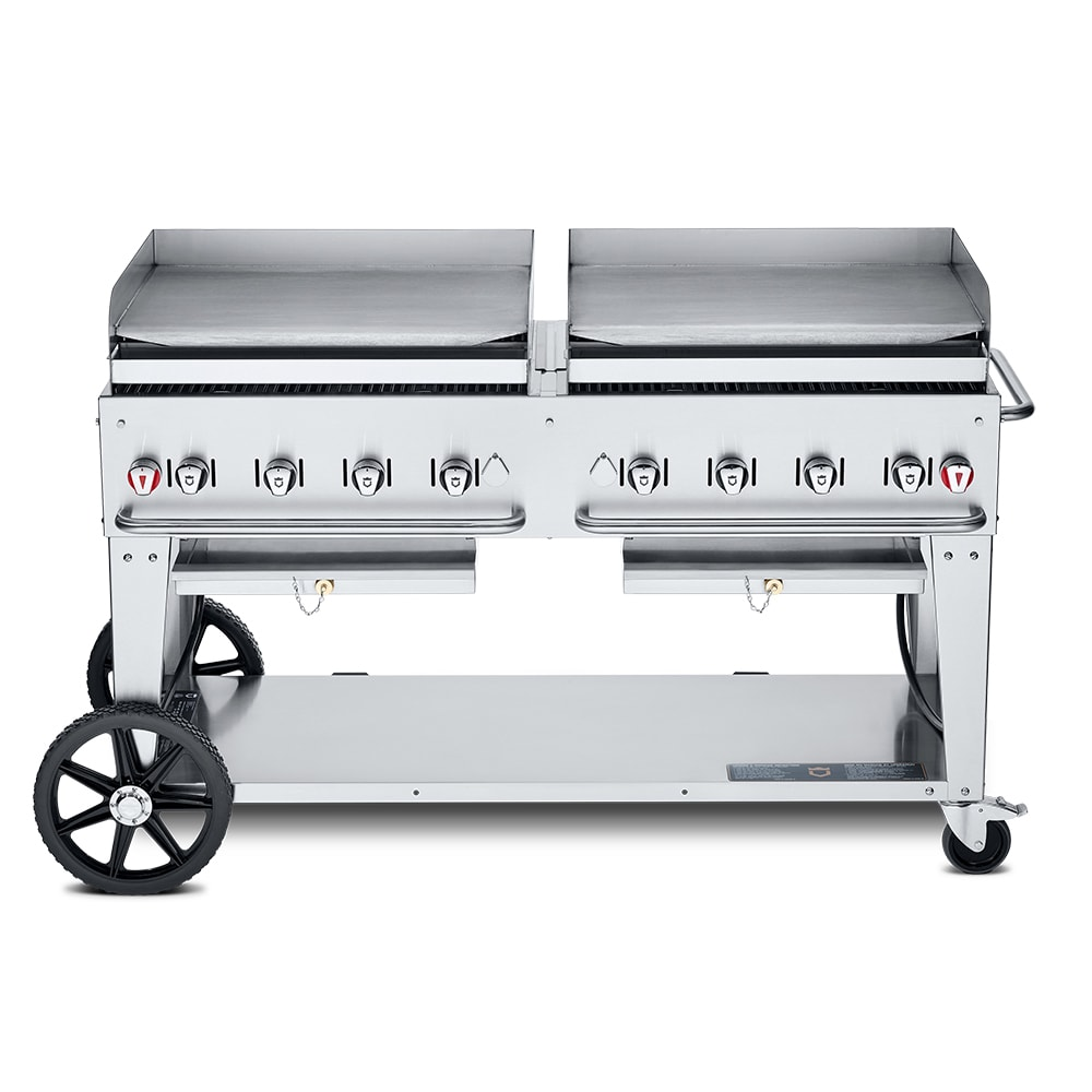 "Crown Verity MG-60LP 60"" Mobile Gas Commercial Outdoor Griddle, LP"
