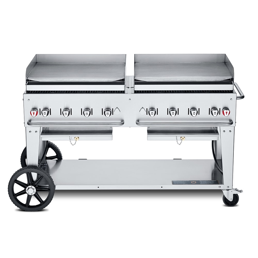 "Crown Verity MG-60NG 60"" Mobile Gas Commercial Outdoor Griddle, NG"