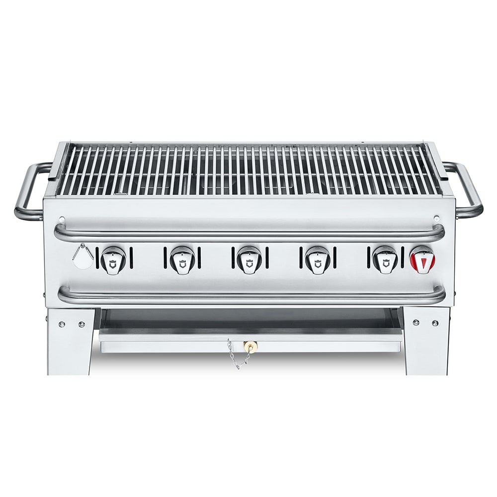 "Crown Verity PCB-36 36"" Countertop Gas Commercial Outdoor Grill w/ Water Pan, LP"