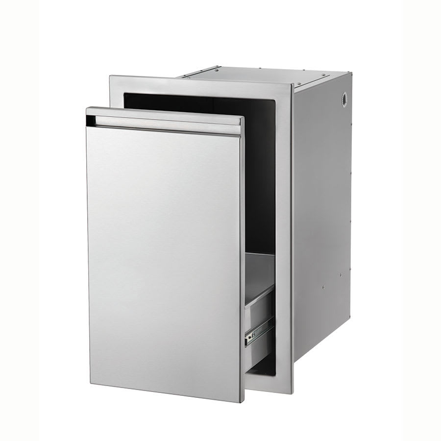 Crown Verity PD1 Built-In Propane/Trash Compartment - Stainless