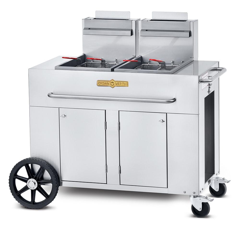 Crown Verity PF-2LP Outdoor Gas Fryer - (2) 40-lb Vat, LP