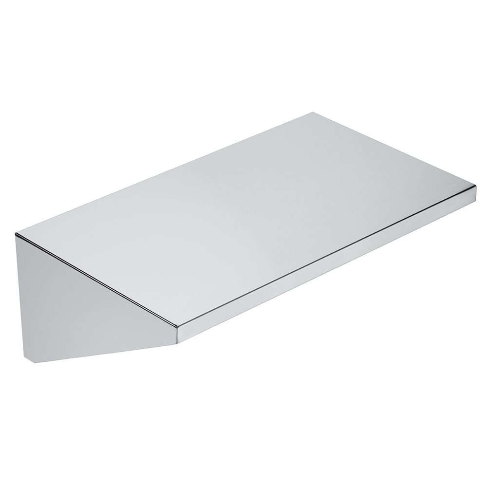 """Crown Verity RES Removable End Shelf for MCB Grills - 14"""" x 23"""", Stainless"""
