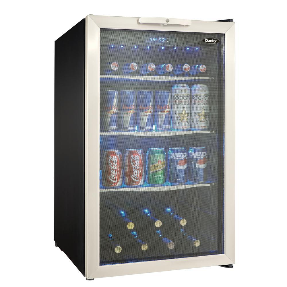 Danby DBC039A1BDB 4.3 cu ft Undercounter Refrigerator w/ Glass Door - Black/Stainless, 115v