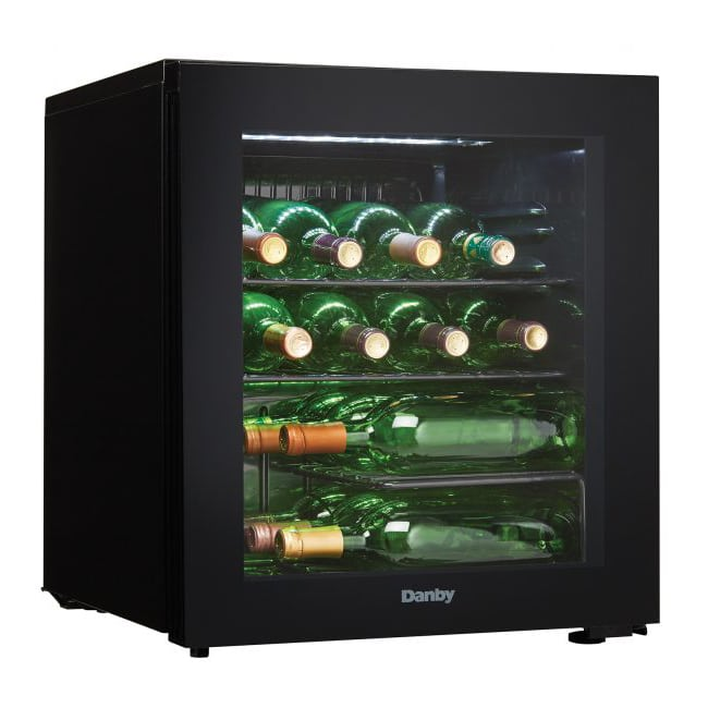 "Danby DWC018A1BDB 18"" One Section Wine Cooler w/ (1) Zone - 16 Bottle Capacity, 115v"