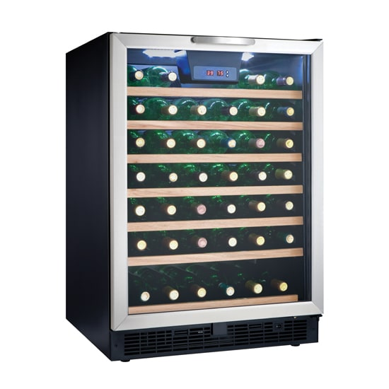 """Danby DWC508BLS 24"""" One Section Wine Cooler w/ (1) Zone - 50 Bottle Capacity, 115v"""