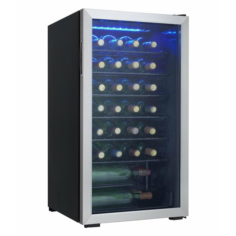 "Danby DWC93BLSDB 18"" One Section Wine Cooler w/ (1) Zone - 36 Bottle Capacity, 120v"
