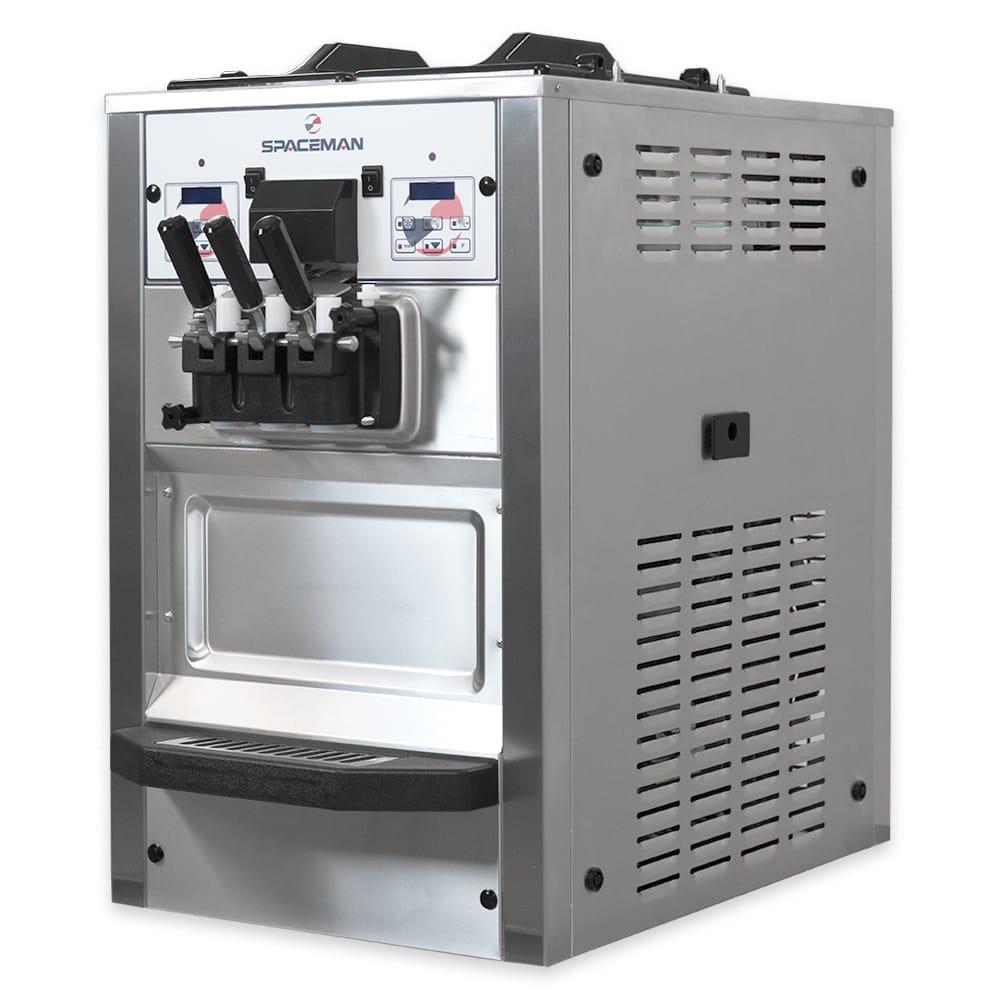 Spaceman 6235AH Soft Serve Ice Cream Machine w/ (2) 6 qt Flavor Hopper, 208-230v, 1ph