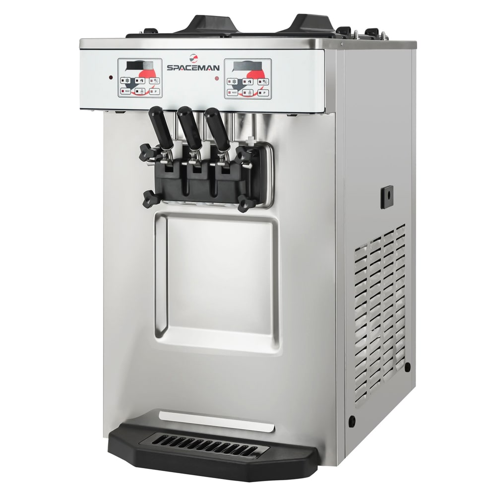 Spaceman 6235H Soft Serve Freezer w/ (2) 12.7-qt Hopper, Air Cooled, 208-230v/1ph