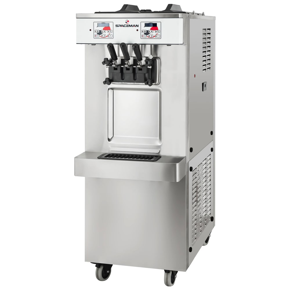 Spaceman 6250AH Soft Serve Freezer w/ (2) 12.7-qt Hopper, Air Cooled, 208-230v/1ph