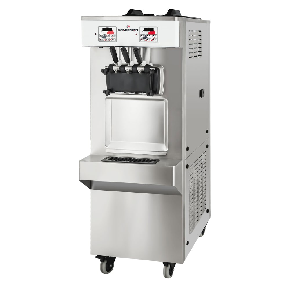 Spaceman 6378AH-3-PHASE Soft Serve Freezer w/ (2) 7.5-qt Hopper, Air Cooled, 220v/1ph