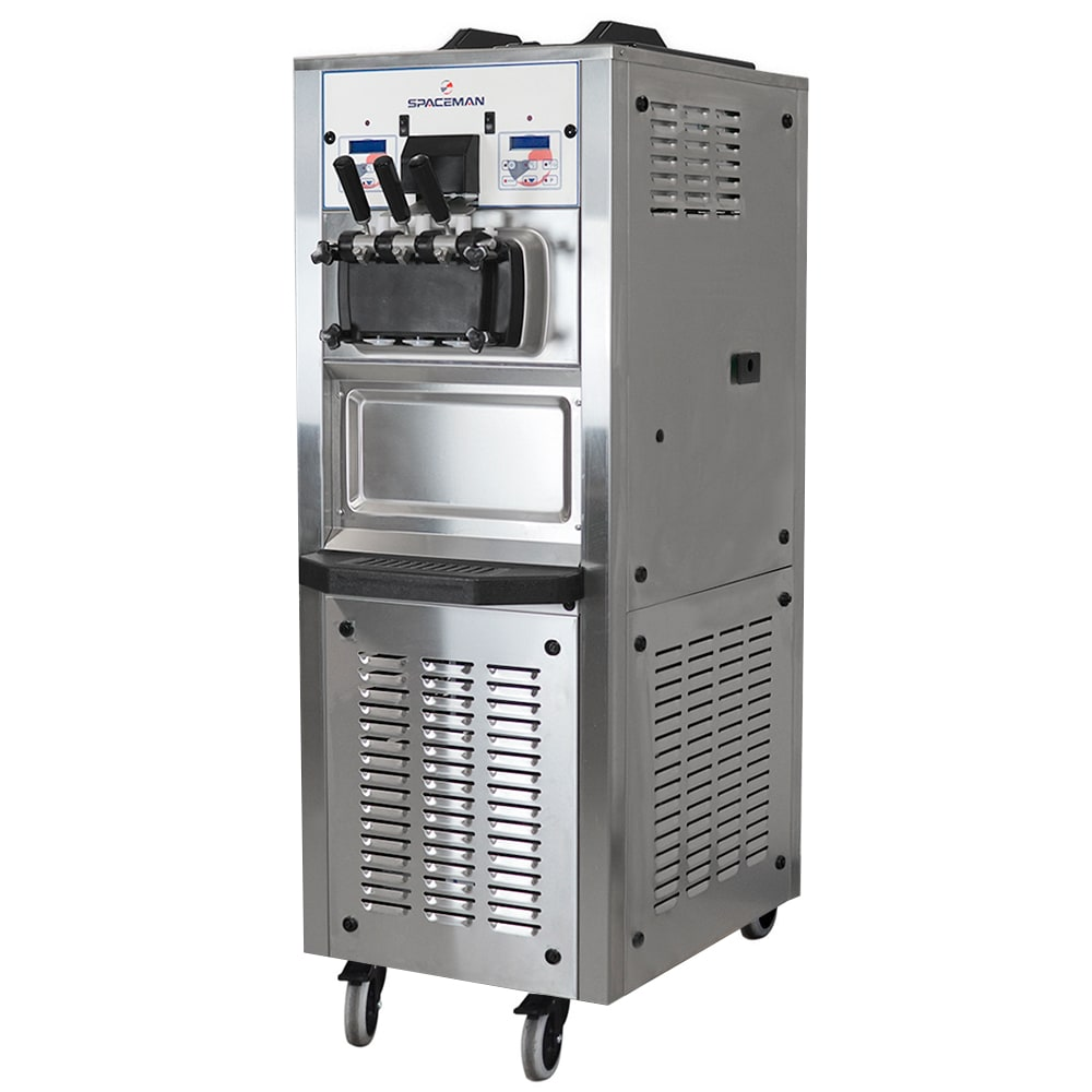 Spaceman 6378AHB-3-PHASE Soft Serve Freezer w/ (2) 7.5-qt Hopper, Air Cooled, 220v/3ph