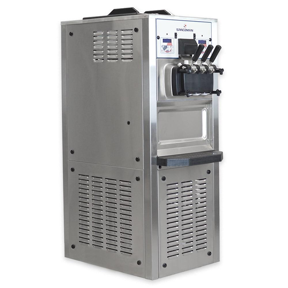 Spaceman 6378H-3-PHASE Soft Serve Ice Cream Machine w/ (2) 15.9 qt Flavor Hoppers, 208-230v, 3ph