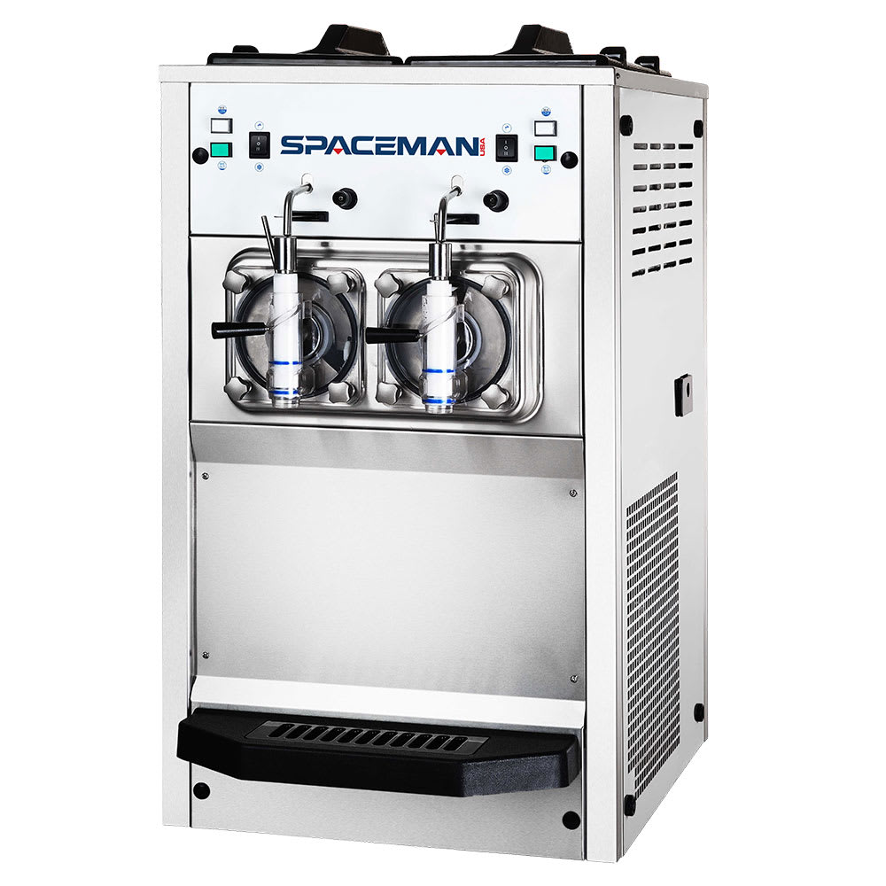 Spaceman 6695H Frozen Beverage Machine w/ (2) 15.85-qt Hopper, Air Cooled, 220v/1ph