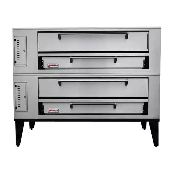 Marsal SD-448STACKED Double Pizza Deck Oven, NG
