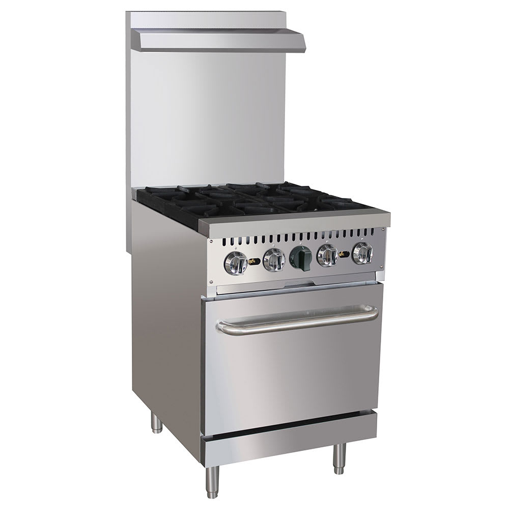 "eQuipped 24-CPGV-4B-S20 24"" 4 Burner Gas Range w/ Standard Oven, NG"