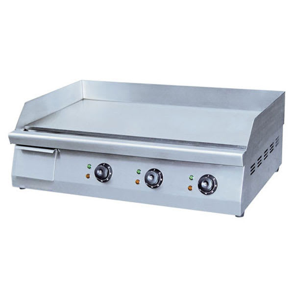 "eQuipped EG30N 30"" Electric Griddle - Manual, 3/8"" Steel Plate, 208-240v/1ph"