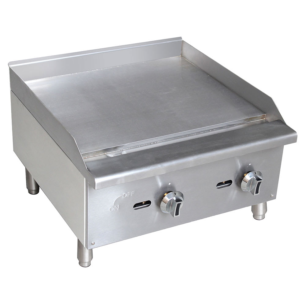 "eQuipped G24 24"" Gas Griddle - Manual, 5/8"" Steel Plate"