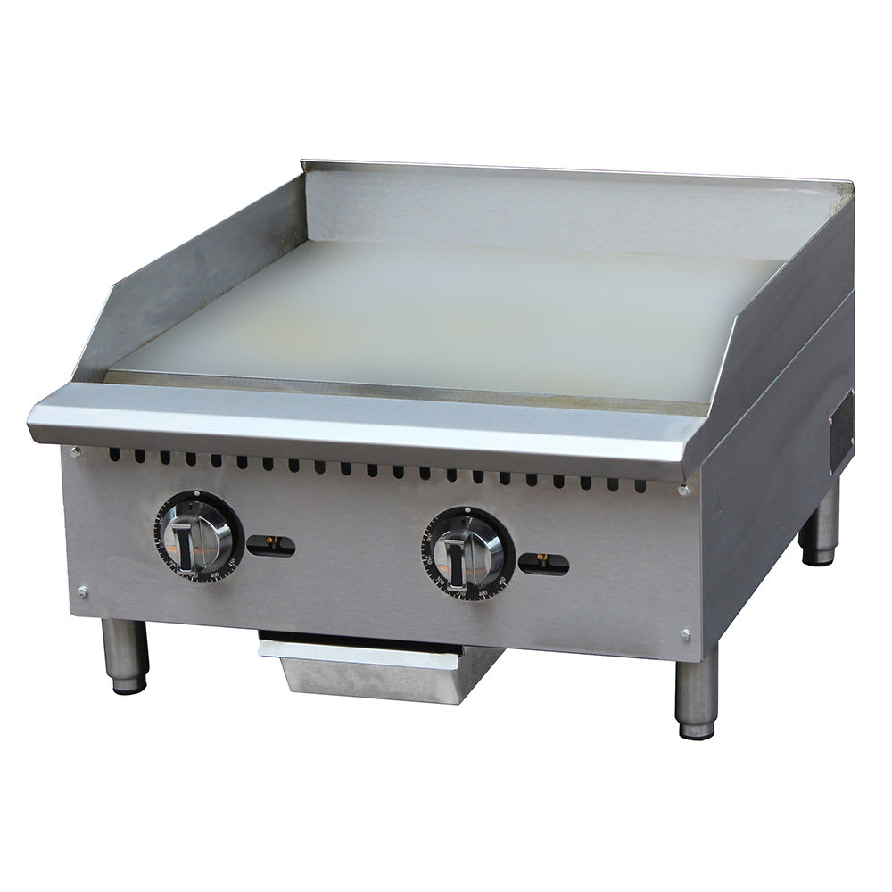 "eQuipped G24T 24"" Gas Griddle - Thermostatic, 1"" Steel Plate"