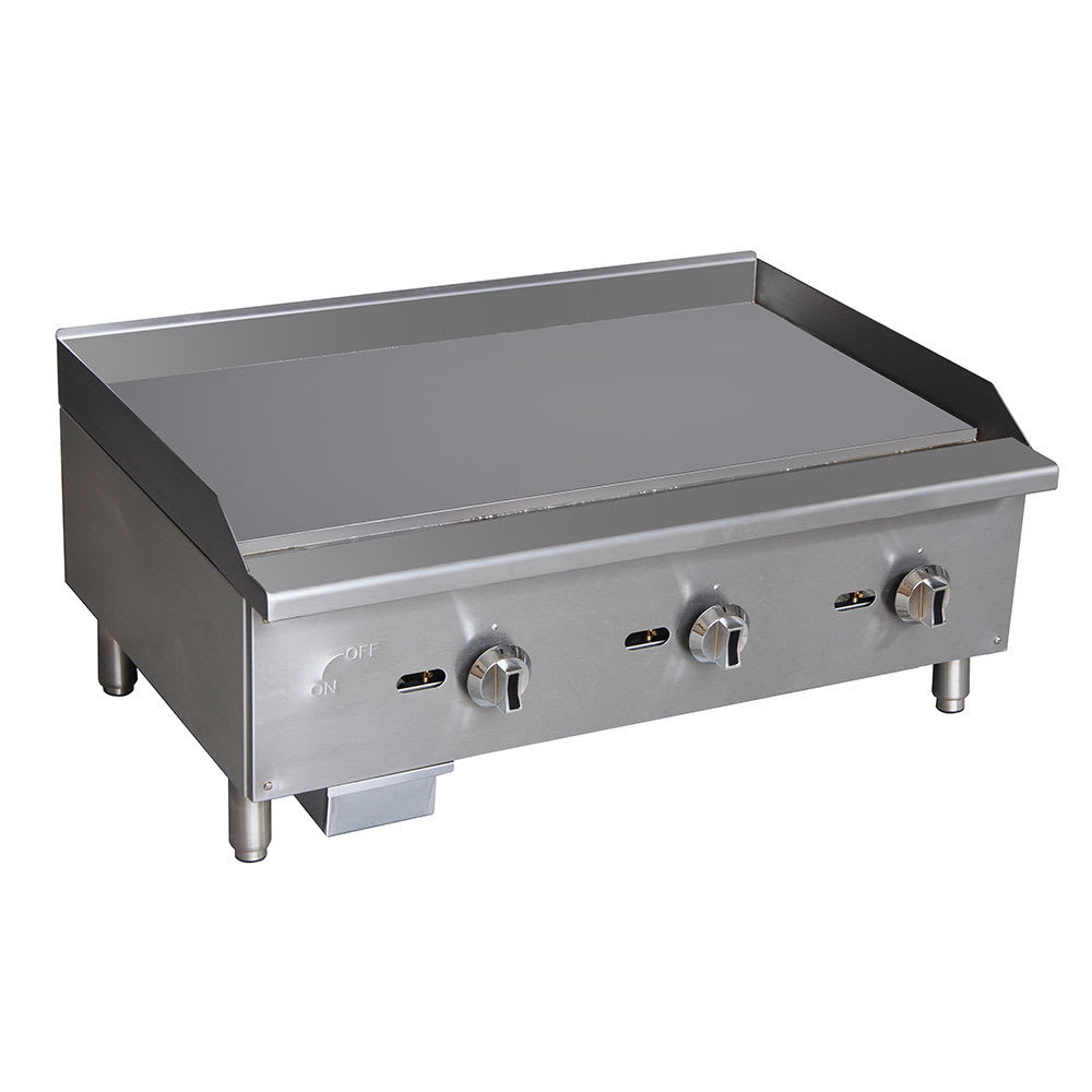 """eQuipped G36 36"""" Gas Griddle - Manual, 5/8"""" Steel Plate"""