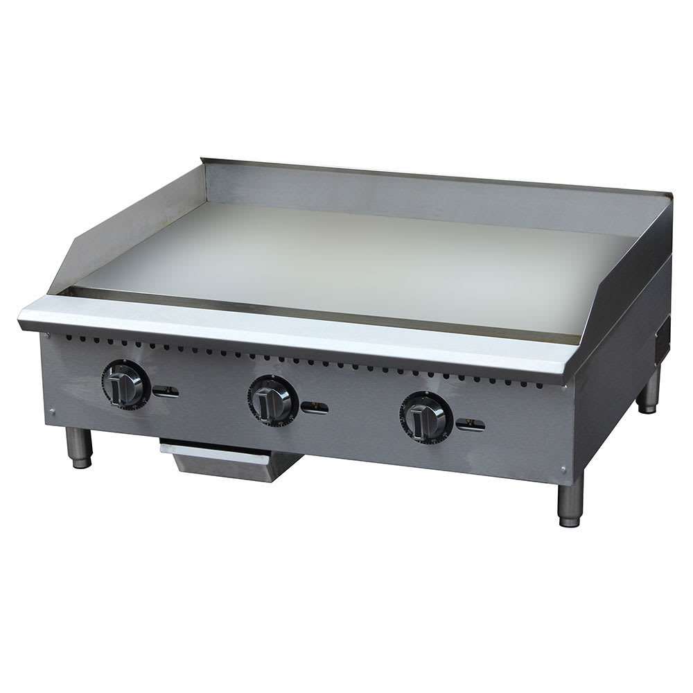 "eQuipped G36T 36"" Gas Griddle - Thermostatic, 1"" Steel Plate"