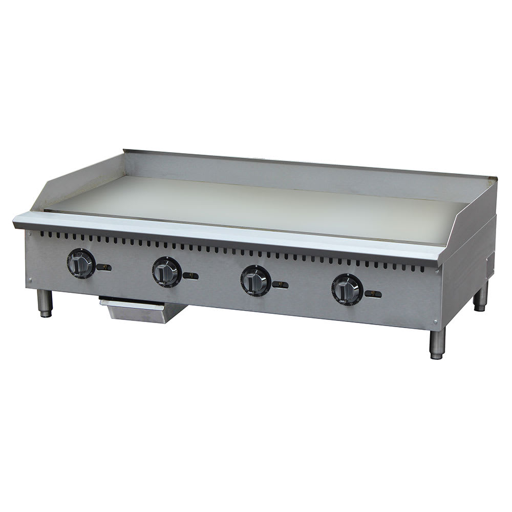 "eQuipped G48T 48"" Gas Griddle - Thermostatic, 1"" Steel Plate"