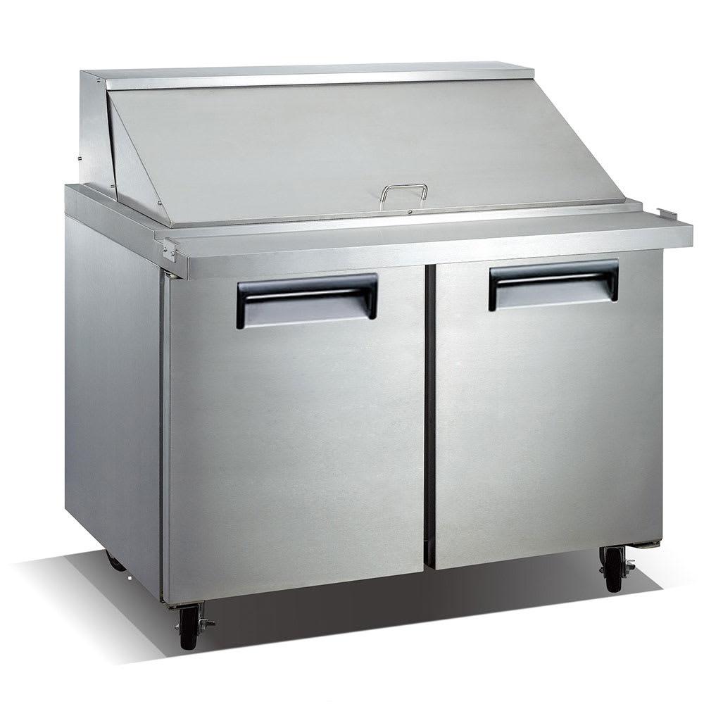 "eQuipped VSSM2 47"" Mega Top Sandwich/Salad Prep Table w/ Refrigerated Base, 115v"